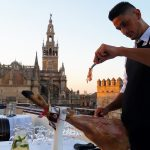 jamon cutter on private terrace