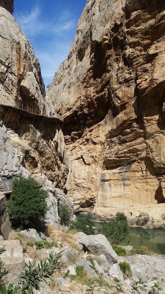 Cliff walls of the Caminito del Rey