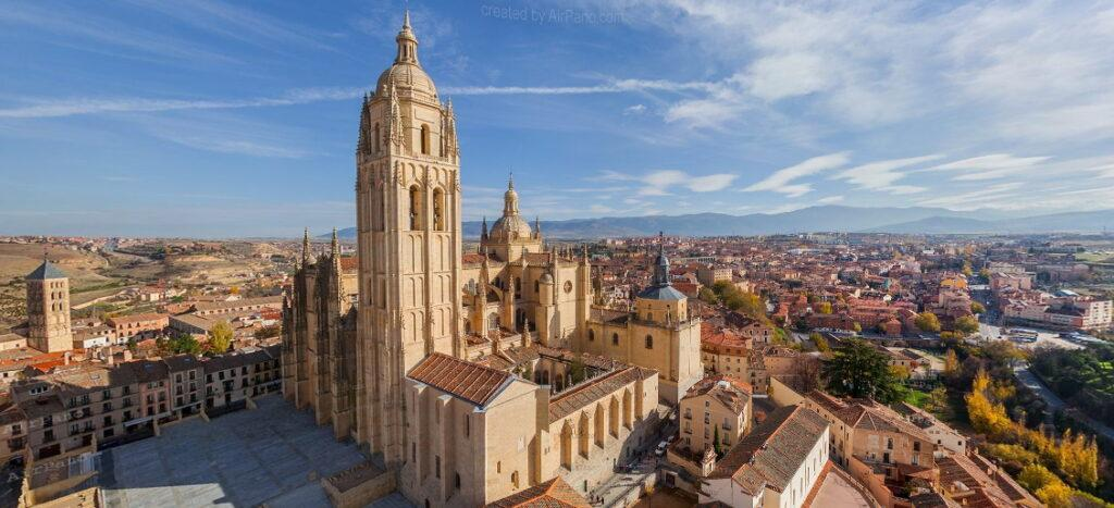 View of Segovia Cathedral on AirPano