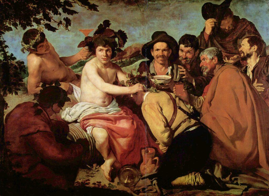 The triumph of Bacchus by Velázquez